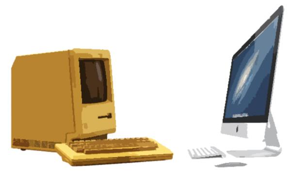 Macintosh 128k VS imac 2013